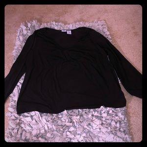 Worthington Sz 3X Black Long Sleeve Blouse